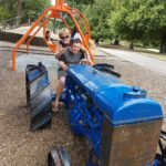 Brad n Jill on the tractor in Masterton